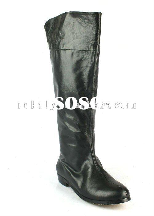 hot selling genuine leather knee high boots girls GZ0105
