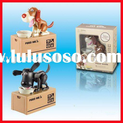 money box cat and dog stealing coins