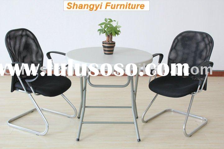 small Plastic folding round dining table and chairs