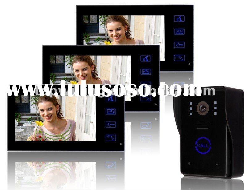 villo video door bell, video intercom with 7inch touch button screen and rain cover camera