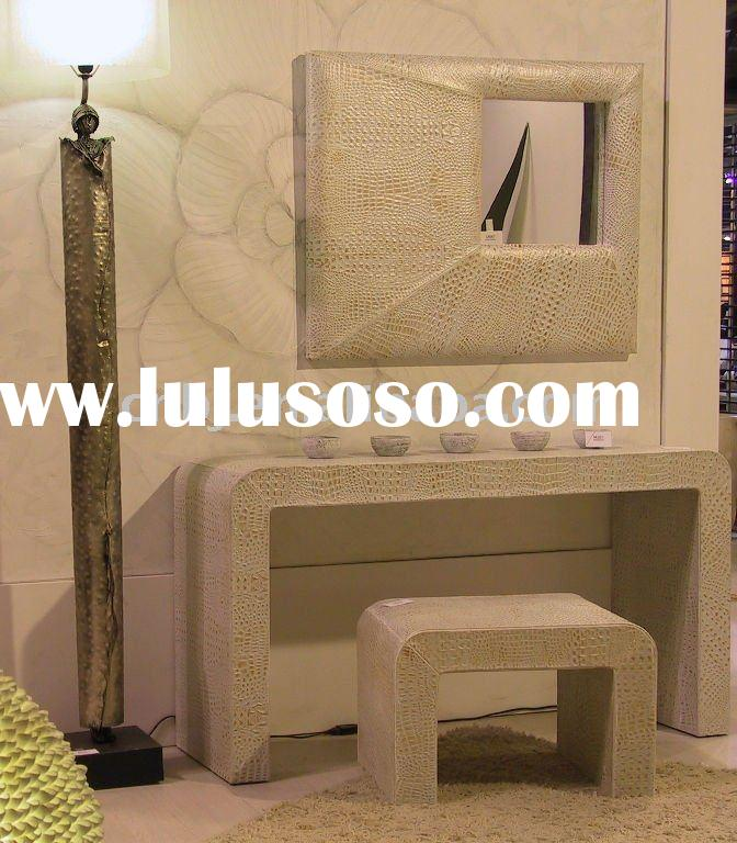 2011 Modern Croco Leather Mirrored Dressing Table/leather home decoration/leather furnishing items
