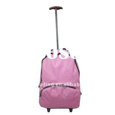 2011 shiny color kids school bag with wheels