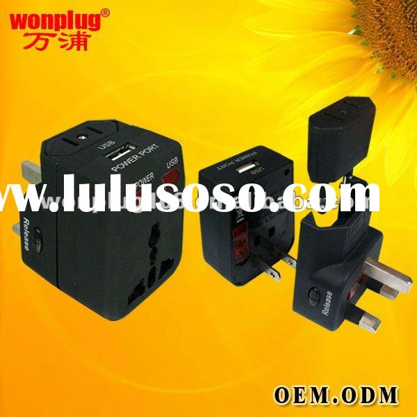 2012 Hot Travel Multi Plug With USB Using For More Than 150 Countries