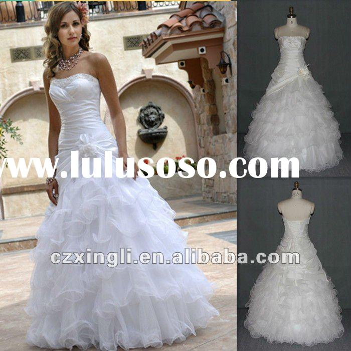 2012 New design Elegant Ball Gown Floor Length Taffeta and Net with Layered Prom Dress