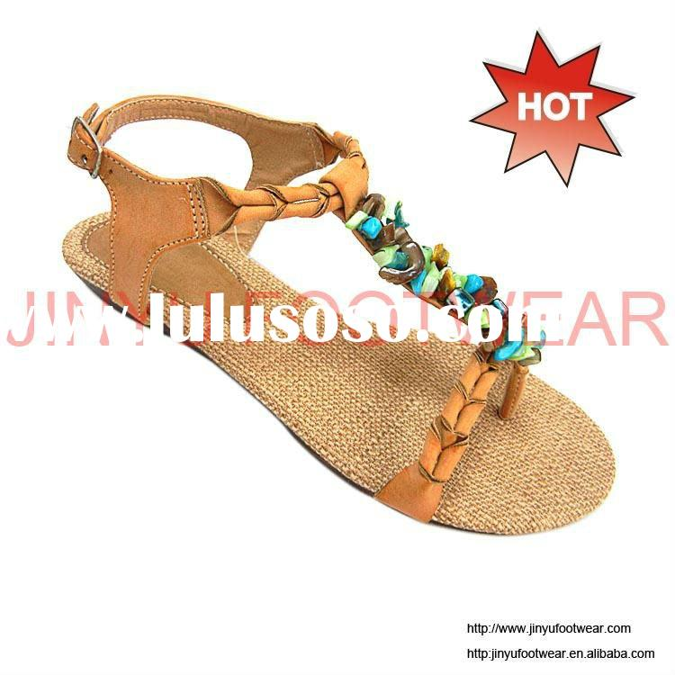 2012 fancy ladies beaded sandals