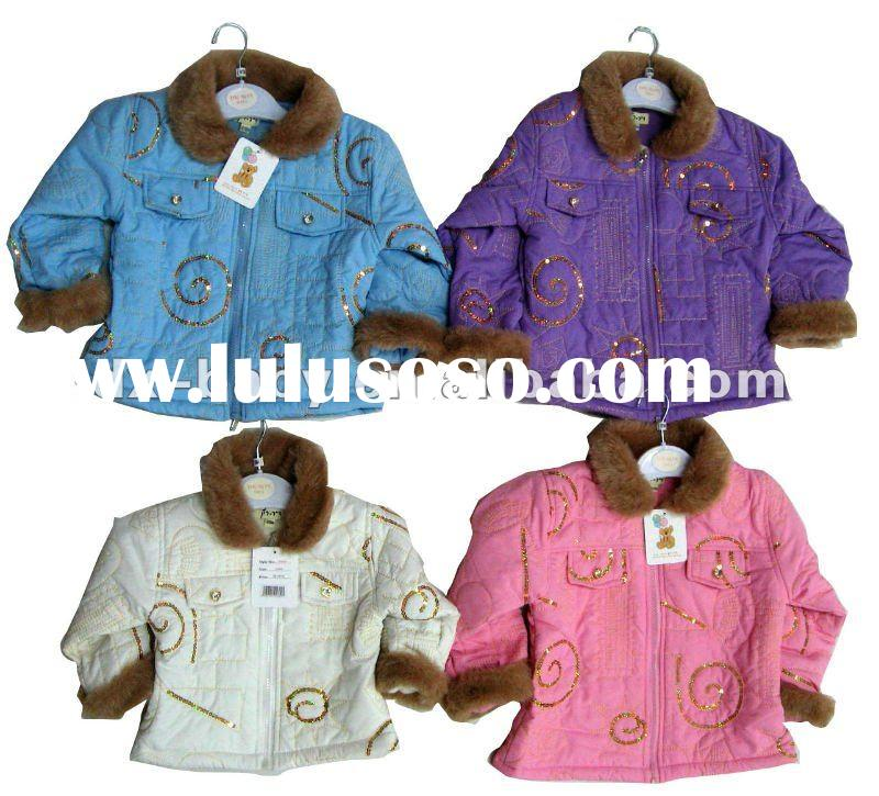 2012 hot sale fashion kids winter jacket