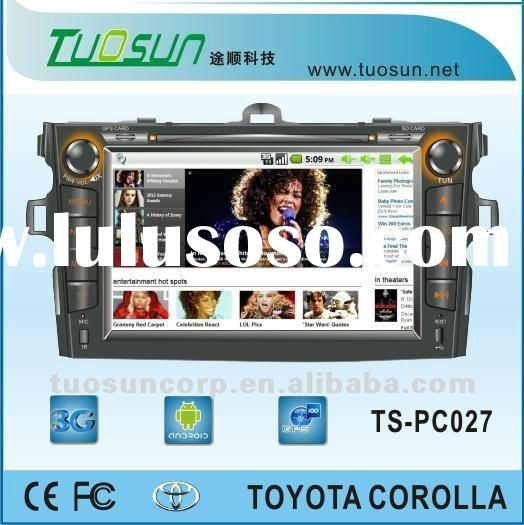 2 din android car pc for Toyota Corolla with computer's full function