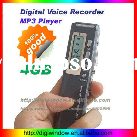 4GB Digital mini voice recorder +MP3 Player Support Telephone recording (DW-3-077)