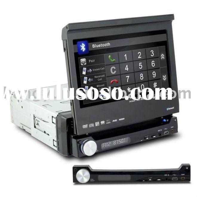 7 inch one din car dvd with gps/detachable panel(against of theft)