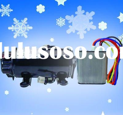 Battery 12/24vdc Compressor for heavy duty truck sleeper lorry air conditioning
