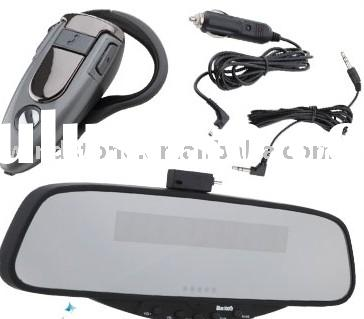 Bluetooth Car Kits Handsfree Rearview Mirror With Earpiece (BT628E) (SMALL ORDER,LOW PRICE ! )
