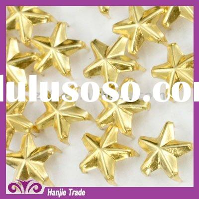 Brass Star Prong Stud Metal Nailhead Gold with Claws