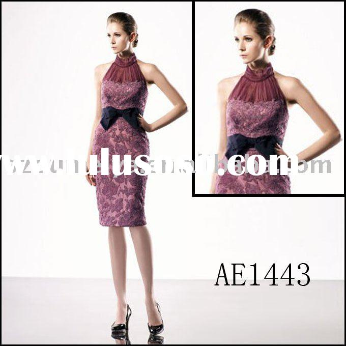 Classy Noble Sleeveless Knee-length Lace Evening Dress AE1443