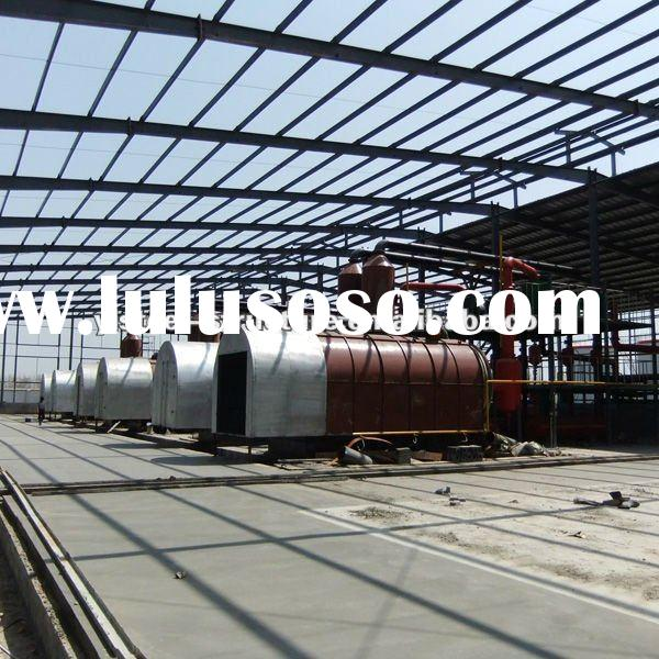 Continuous plastic pyrolysis waste tyre refining machine