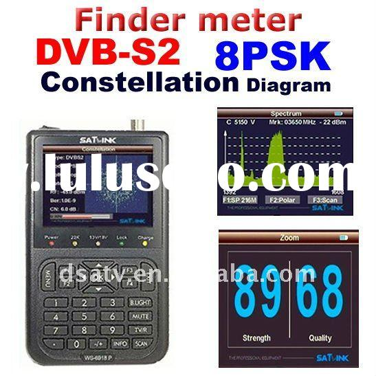 DVB-S+DVB-S2 satellite finder meter Sat-Link Digital Displaying Satellite Finder Meter HIQ WS-6918P
