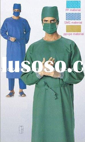 Disposable Sterile Spunlace Non-woven Surgical Gown/Medical Gown in CE,FDA Standard