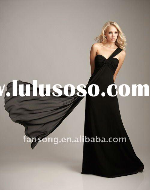 Elegant single strap sweetheart neckline maid of honor gown