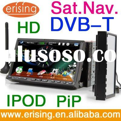 Erisin Double Din 7 inch Car DVD Players 3D DVB-T Radio GPS iPod Slide Menu Anti-Theft