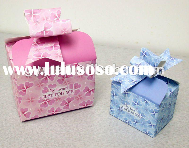 Exquisite colorful foldable paper gift box/packaging box with cute pattern