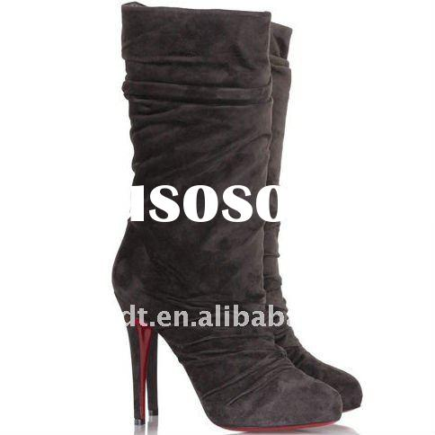 Fashion suede boots/top name brand lady boots