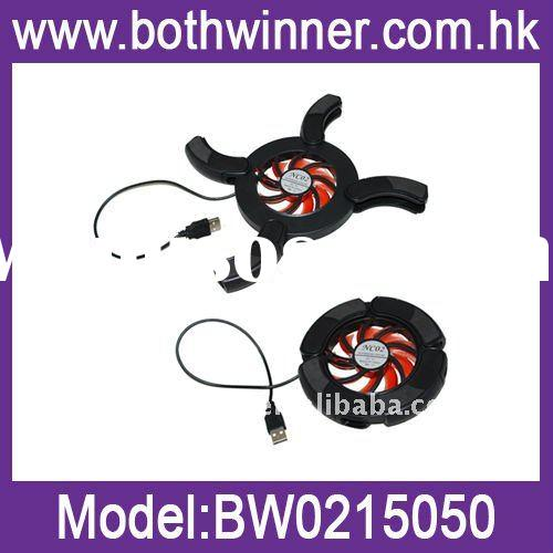 """Flaming Wheel Mini USB Laptop Notebook Fan Cooling Pad/Cooler,with 2 Blue LED Lights,For 7""""-14&"""