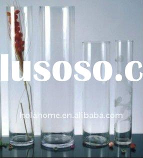 Glassware Tall Clear Cylinder Vase Glass