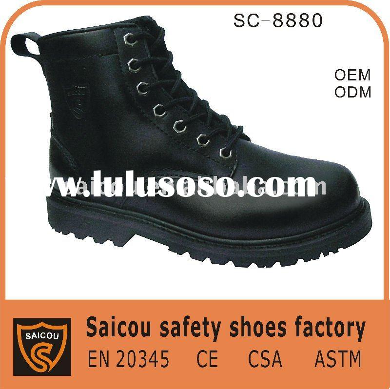 Guangzhou steel toe Military uniforms and boots factory (SC-8881)