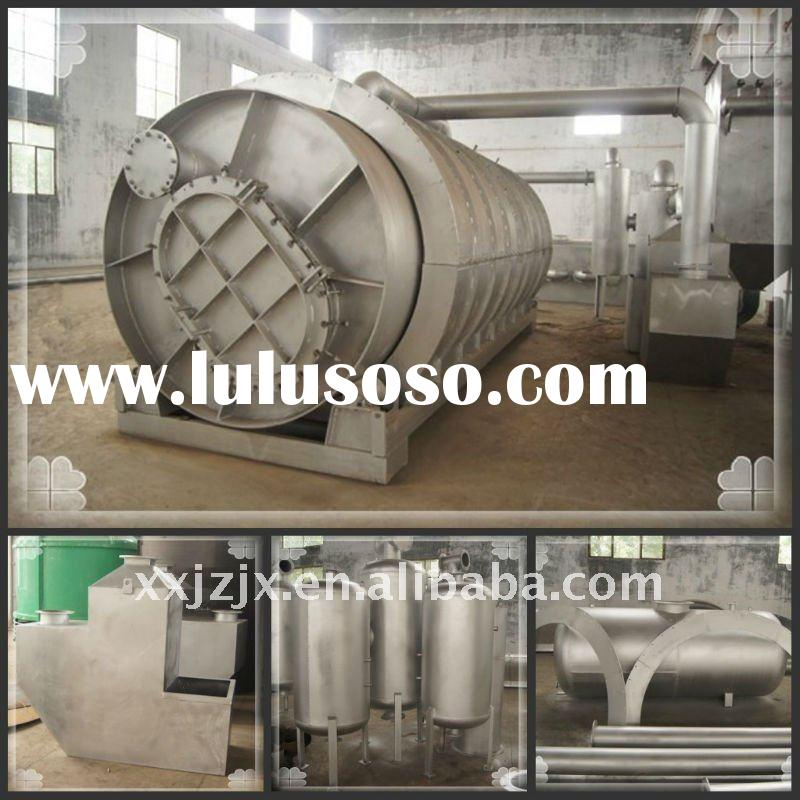 High oil rate waste tire pyrolysis projects