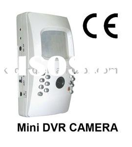Home Security Mini DVR Camera, 1/4 SONY CCD Camera, Fisheye Lens, PIR Detection, Support 4G SD Card