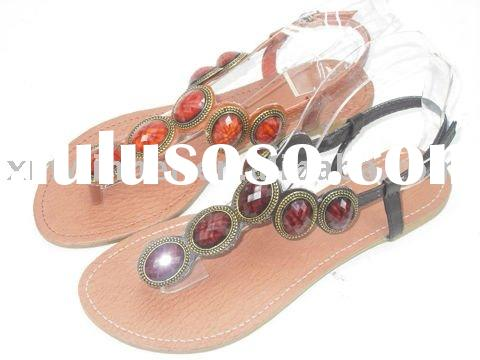 Ladies Beaded Thong Sandals