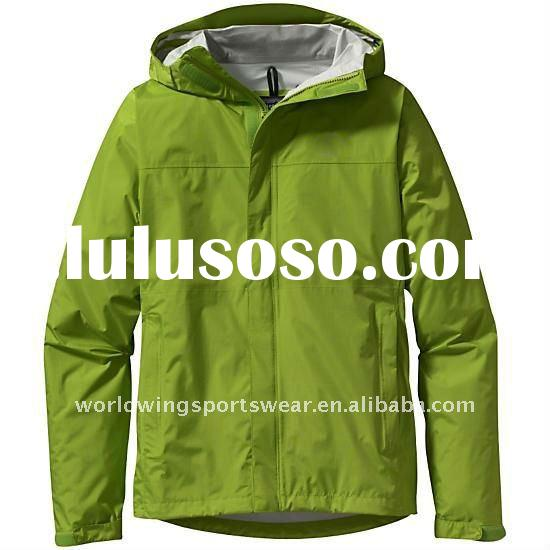 Mens polyester olive green fashion waterproof tracksuit top