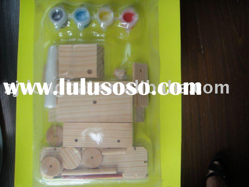New styles 3D wooden puzzle(tank model)