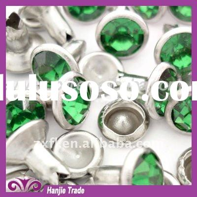 Silver Strass Rhinestone Crystal Rivet for Leather Belts