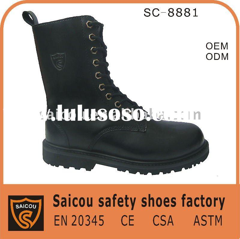 Steel toe military boots factory (SC-8881)