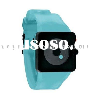 Weiying direct factory Hot sales fashion high quality square silicone watch 2012
