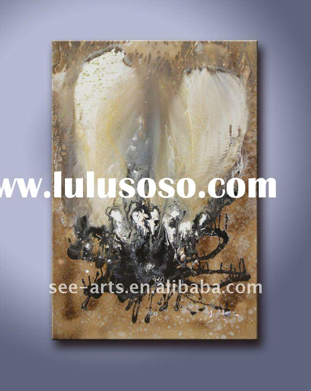 abstract modern butterfly oil painting on canvas
