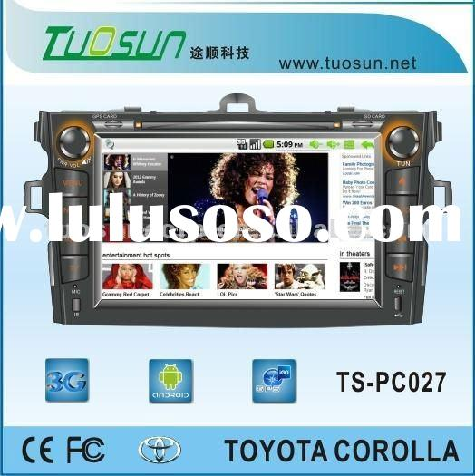 android car pc with steering wheel control for Toyota Corolla with 3G/GPRS/WIFI and GPS/TV function