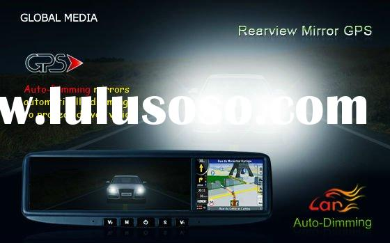bluetooth car rearview mirror gps navigation with auto dimming for Honda Accord Civic CR-V from 2008