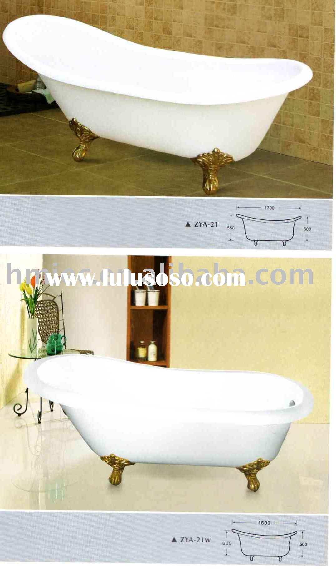 cast iron porcelain enamel bathtub