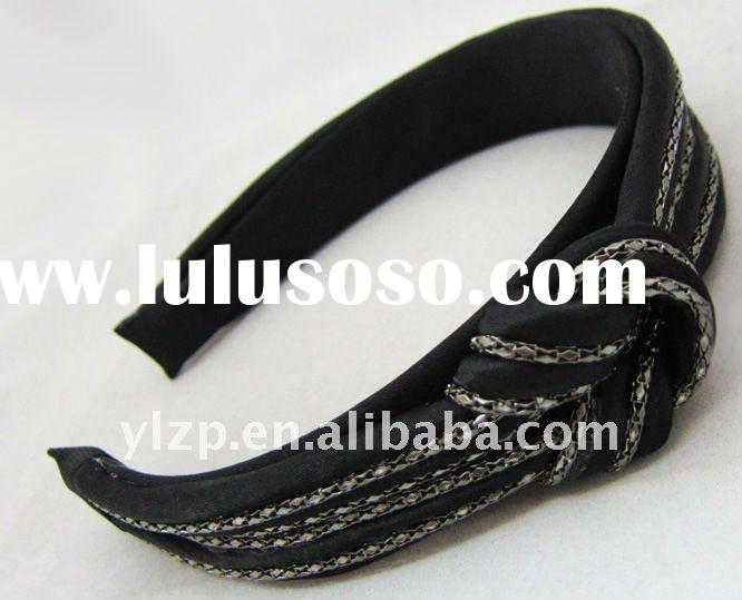 fashion black fabric hair band with sparkling sequin