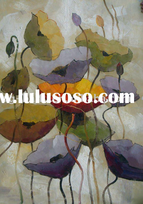 home decorative flower oil Painting for sale