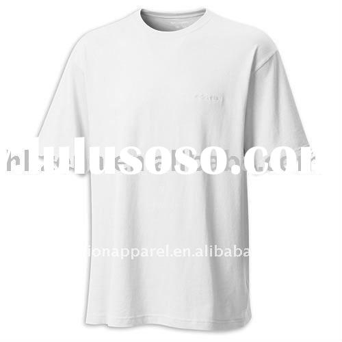men's short sleeve cotton bulk blank t-shirts