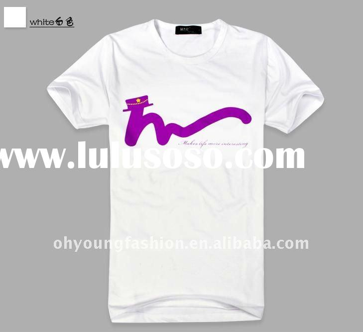 pure cotton high quality cheap price anti-shrink single jersey crew neck white custom screen printed