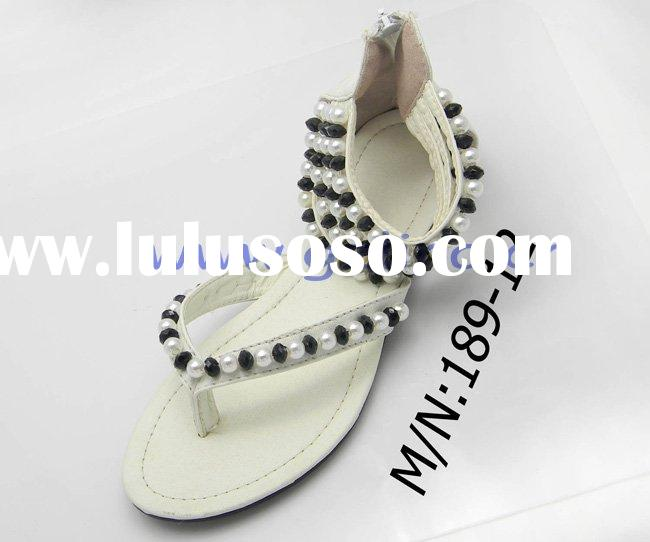 sandal 2011 the new styles china shoe and comfortable ladies beaded sandals