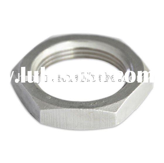 stainless steel pipe fitting hex nut lock nut