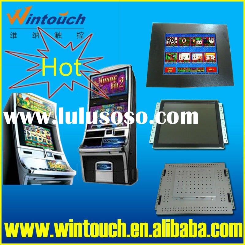19 inch POG and WMS 2 IN 1 open frame IR touch screen lcd monitor with bezel