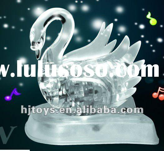2012 Hot flash music Swan 3D crystal puzzle
