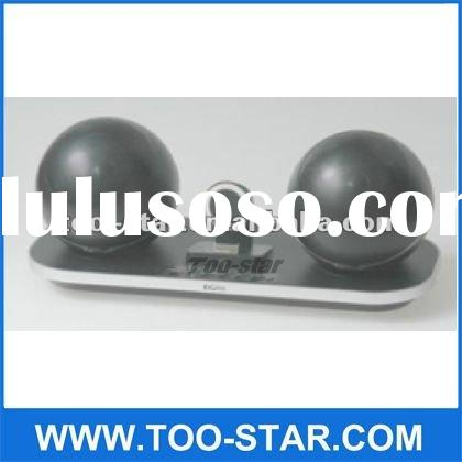 2012 New hot wireless bluetooth 2.4G super mini speaker with docking station for iphone/ ipod