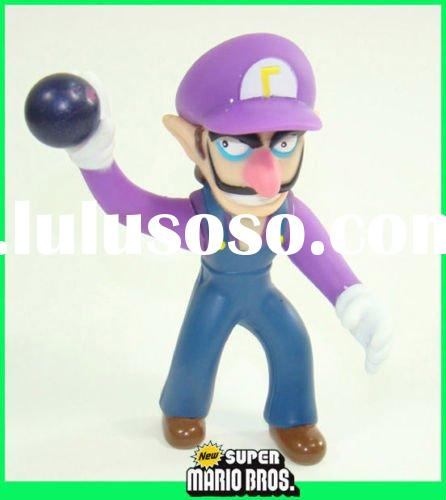 """4"""" super mario brothers movable figure figurine WALUIGI Action Figure Free Shipping Paypal"""