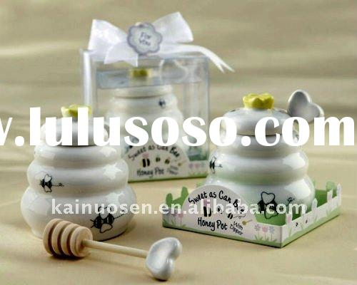 Ceramic Baby Shower Party Favors Baby Bee Honey Pot